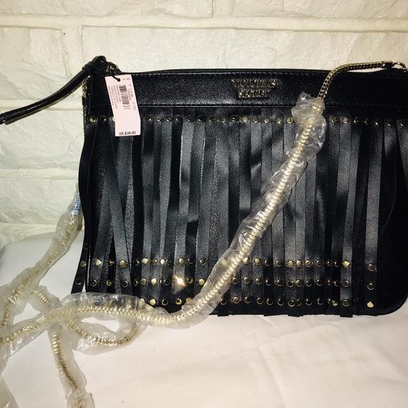 564ad7052fc39 Victoria's Secret On The Fringe Slim Crossbody Bag NWT